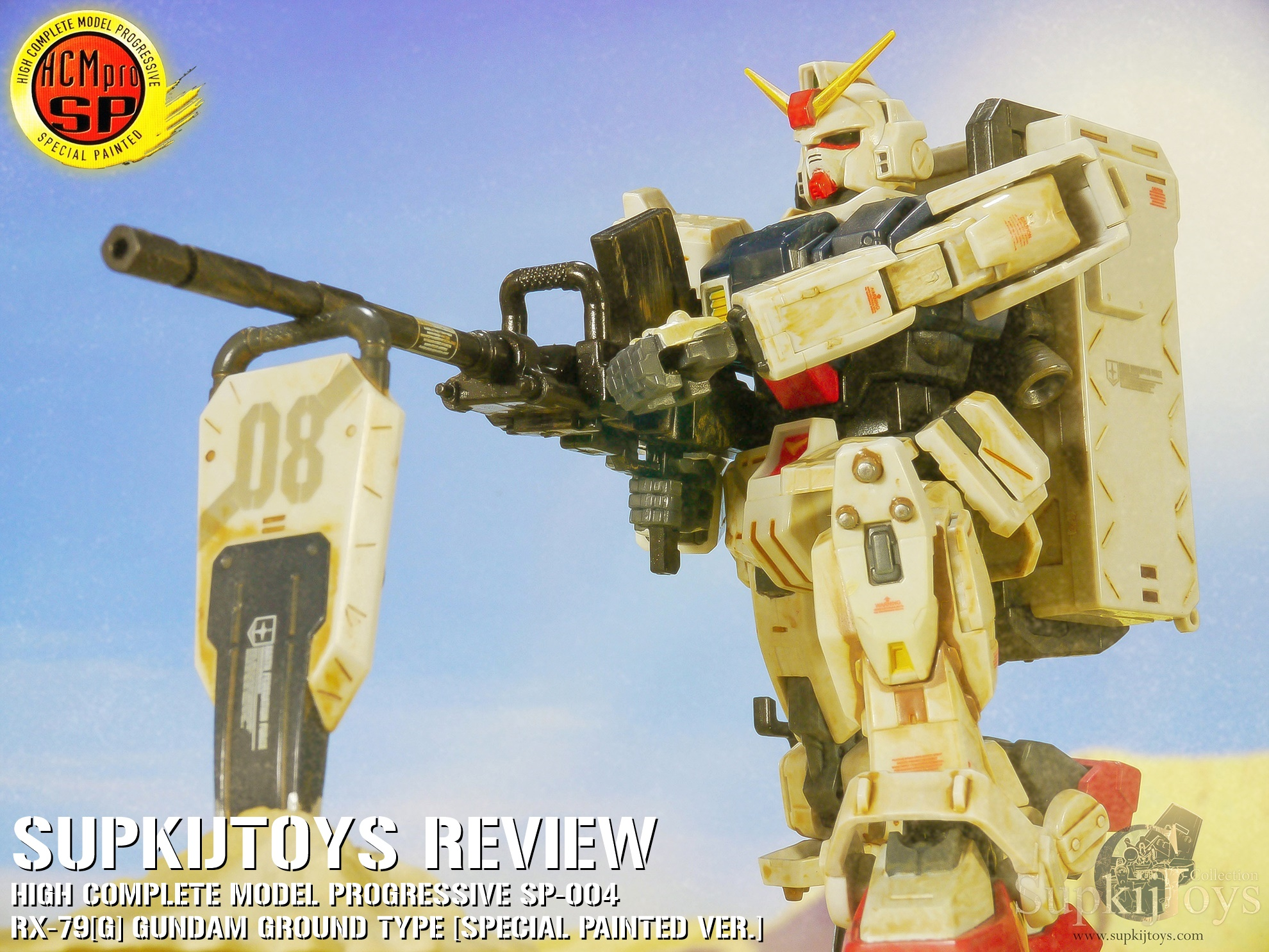 SupkijToys HCM-Pro High Complete Model Progressive Special Painted SP-004 RX-79[G] Gundam Ground Type [Desert Ver.] - Review