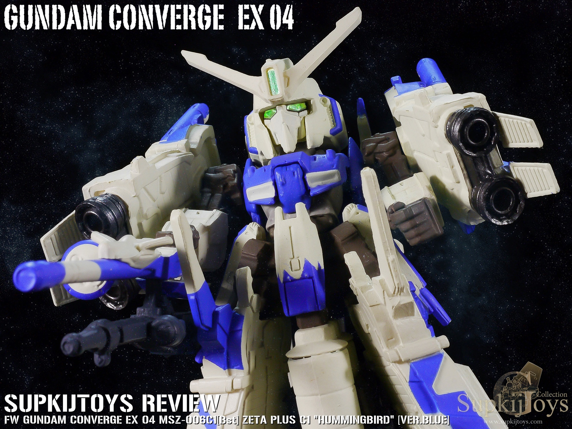 """FW Gundam Converge EX 04 MSZ-006C1[Bst] Zeta Plus C1 """"Hummingbird"""" [Ver.Blue]"""