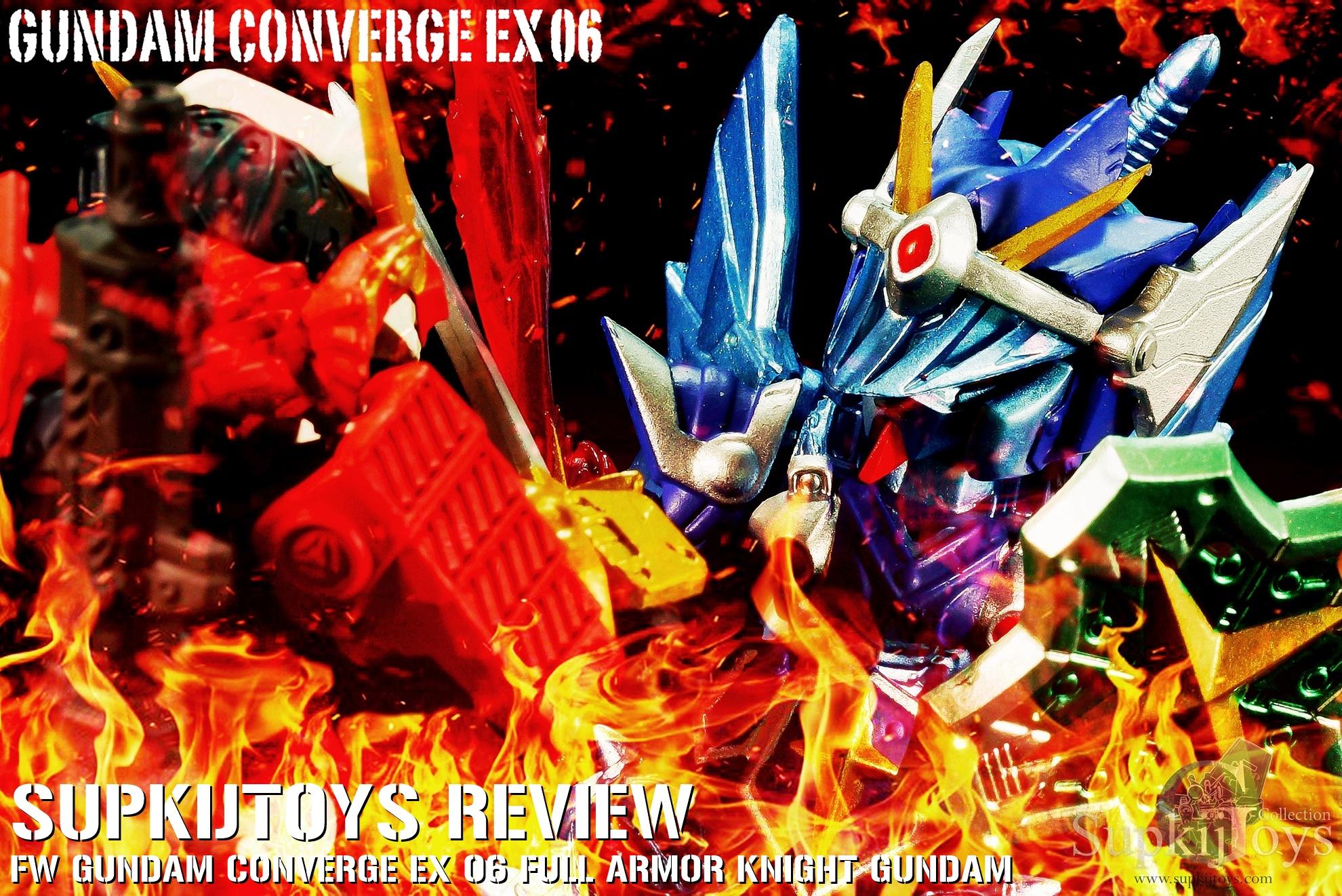 SupkijToys FW Gundam Converge EX 06 Full Armor Knight Gundam & EX 05 Musha Gundam - Review