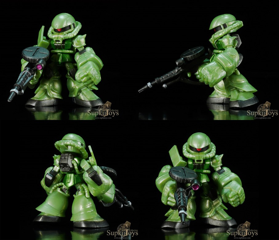 Gashapon Gundam Expand 01 [Metallic Ver.] Set RX-78-2 Gundam [Shield], RX-78-2 Gundam [Beam Rifle], MS-06S Char's Zaku II, MS-06F Zaku II