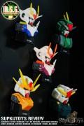 Gashapon Magnetic Scout Gundam 2 Set 00 Gundam, Cherudim Gundam, Arios Gundam, Seravee Gundam, 00 Gundam [Trans-Am Mode]